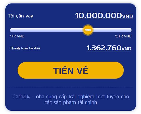Các bước đăng ký vay tiền tại Cash24h rất đơn giản và dễ thao tác