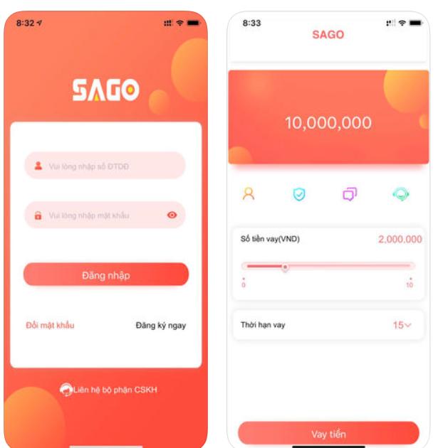 Sago vay hiện đã có mặt trên các cửa hàng của hệ điều hành Android