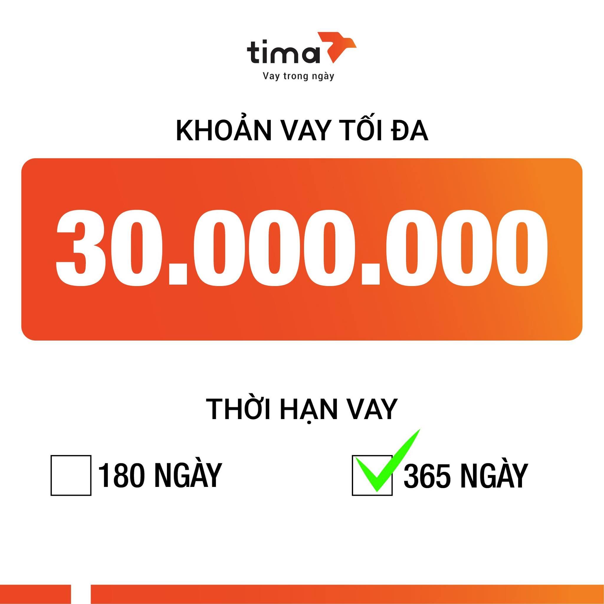 lý do vay tiền tại Tima
