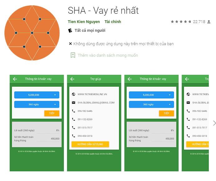 SHA vay tiền online cam kết lãi suất thấp nhất thị trường