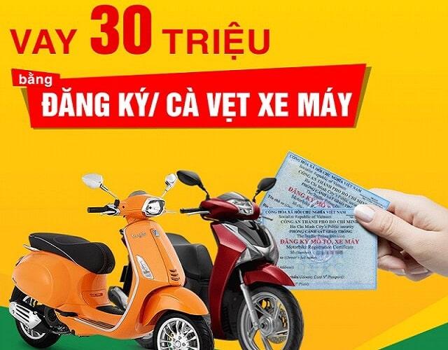 Dịch vụ cầm giấy tờ xe máy Đồng Sun Shop