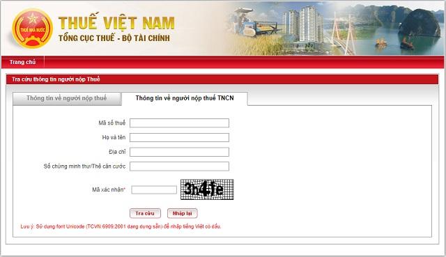 Truy cập vào trang web được chính phủ ban hành để kiểm tra thông tin